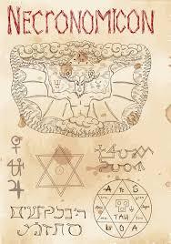 page from black magic book necronomicon stock vector ilration of rite occult