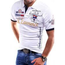 White <b>Zogaa brand</b> New <b>Mens</b> Polo Shirt Slim Fit Short Sleeve Shirt ...
