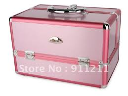 makeup case professional pvc cosmetic carry box pink purple brown birthday gift wb 728 p makeup box