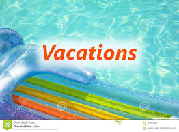 Pool Word Closeup Of Air Mattress At Swimming Pool With Word Vacations Stock