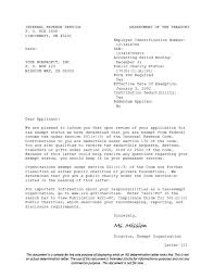 irs determination letter sample