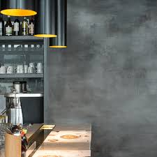 clayworks wagamama polished cement stylish concrete effect artistic modern clay plaster wall finish art exhibition stucco