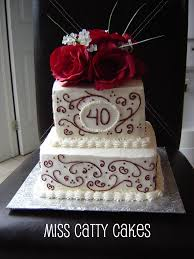 40th Wedding Anniversary Cake Miss Catty Cakes Cake Design Flickr