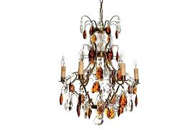 full size of vintage crystal candle chandelier 6 arm electric in amber coloured brass with crystals