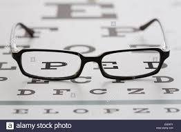 Lying Eye Chart Spectacles Lying On Eye Chart Stock Photo 69134603 Alamy