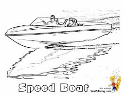 Small Picture Coloring Page of Speed Boat Free Sharp Ships Boats Coloring