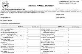 8 Personal Financial Statement Form Free Download