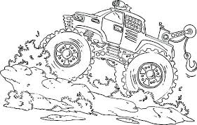 Monster Jam Coloring Book Monster Truck Color Pages Monster Jam