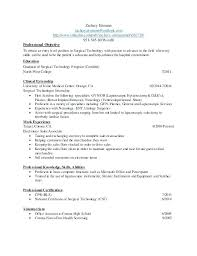 Lab Technician Resume Objective New Graduate Surgical Tech Resume