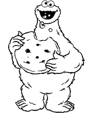 Cookie Monster Coloring Pages Eating Coloringstar