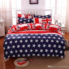 usa flag stars stripes bedding set red blue country flag duvet cover bed set twin full queen king size bed sheets bedlinen bedclothes usa flag bedding set