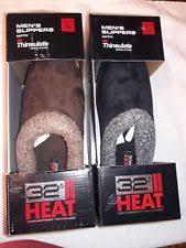 32 Degrees Mens Slippers Size Chart Mens 32 Degree Heat Thinsulate Clog Slipper Black Size M 8 9