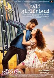 Romantic Movie Poster Arjun And Shraddha Starrer Half Girlfriend Movie Poster