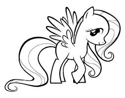 Small Picture My Little Pony Fluttershy Coloring Page Download Print Online
