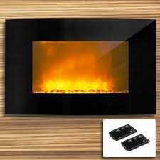 image of wall hung electric fireplace heater