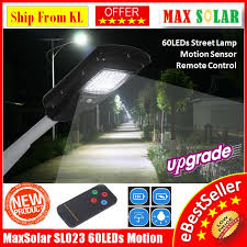 30w 60pcs led solar powered outdoor road lamp yard flood street light