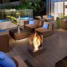 outdoor fireplace paver patio: download x   paver patio outdoor fireplace with flagstone patio with contemporary brown sofa wooden floor and swimming pool