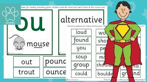 'here, we start introducing alternative spellings for sounds, like 'igh', says sara. Teacher S Pet Phase 5 Phonics Alternative Grapheme Matching Ou