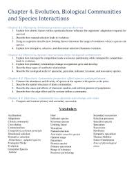 habitat and niche activity sheet answers chapter worksheets teacher
