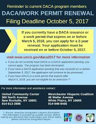 New Rochelle Dreamers Work Permit Renewal Deadline Is Oct 5
