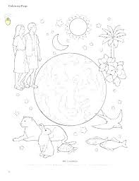 Coloring Pages For Creation Creation Story Coloring Pages Creation