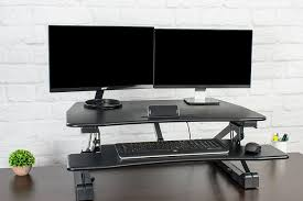 standing desk converter dual monitor. Fine Dual Dual Monitors On Vivo Electric Stand Up Desk Converter Featured Image On Standing Desk Converter Dual Monitor N
