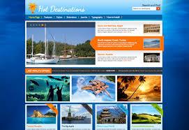 Travel Templates Joomla Travel Template Hot Destinations Hotthemes