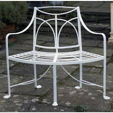 a 19th century regency wrought iron garden seat
