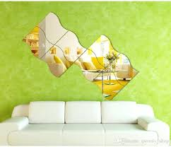 precious mirror wall decals large waves shaped mirror wall stickers crystal wall sticker removable vinyl wall