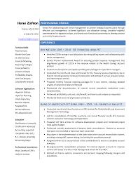 Resume Finance Analyst Resume