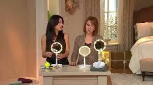 lighted travel mirror. floxite 10x/1x lighted folding vanity \u0026 travel mirror with dan i