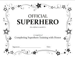certificate template pages free coloring pages superhero certificate template printable arts