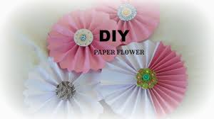 paper craft how to make paper rosettes flower easy simple diy in 5 min wall hanging you