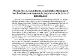 who is responsible for the tragedy of macbeth essay pdf  the tragedy of macbeth essay banxue store