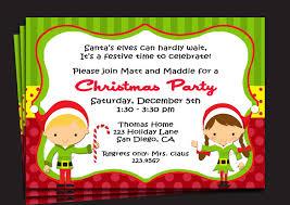 holiday party invitation info