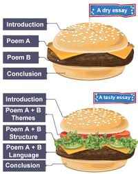 english literature essay structure essay structures bbc bitesize   gcse english literature   comparing poems   revision  infographic illustrating