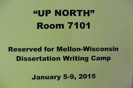 "a life changing experience"" some reflections on the mellon  dissertation camp participants can choose to write in a variety of work spaces"