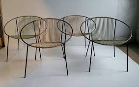 Classic Mid Century Modern Outdoor Hoop Chairs by Salterini at 1stdibs