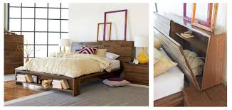macedon bed with bed head storage