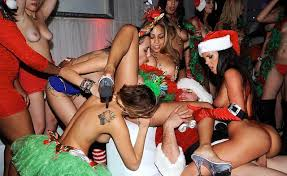 In The VIP Christmas Sex Party