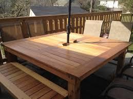 diy outdoor farmhouse table. Simple Square Cedar Outdoor Unique Homemade Patio Table Diy Farmhouse O