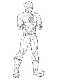 Download Flash Superhero Coloring Pages