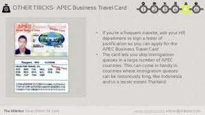 Apec Business Travel Card Singapore Business Cards