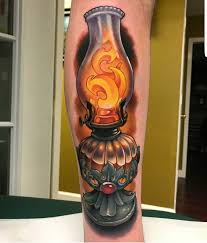 My Oil Lamp Done By Aaron Spring At Red Dagger Tattoo Studio In