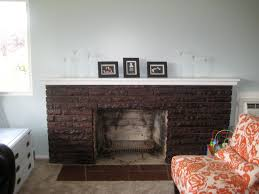 how to stain a brick fireplace