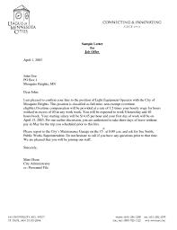 Sample Employment Offer Letter Template Job Offer Letter From Employer Employee Template Sample Best