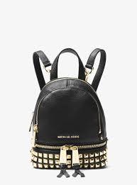 rhea mini studded leather backpack 30s8gezb1t 0001
