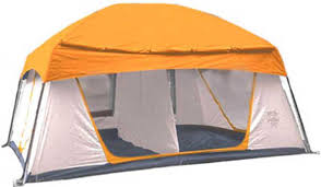the promontory tent offers campers lots of room with a generous peak height of 7 feet and a roomy 12 x 10 floor space that s 120 total square feet of