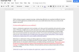 collaborative writing applications for group projects or papers