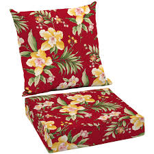 better homes and gardens outdoor patio reversible wicker seat cushion set of 2 multiple patterns com